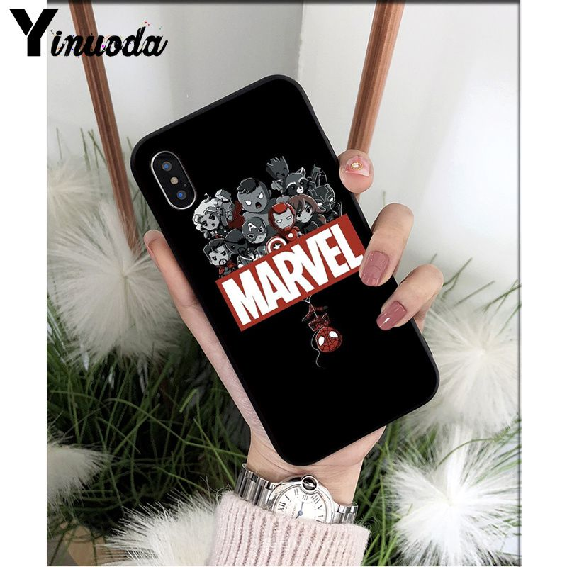 Yinuoda Deadpool iron Man Marvel Avengers KingKong Star Wars Phone Cover for iPhone X XS MAX 6 6s 7 7plus 8 8Plus 5 5S SE XR in Half wrapped Cases from Cellphones Telecommunications