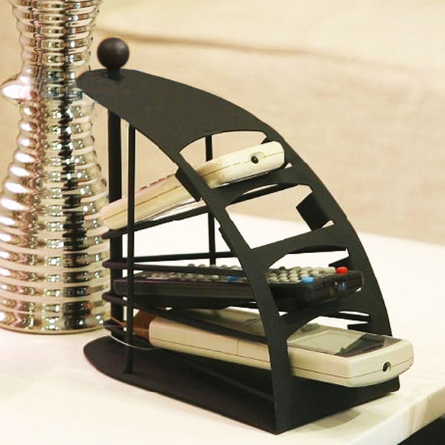 Quality Iron Coffee Table Desktop Video Machine Control Air Conditioning Remote Storage Box Rack