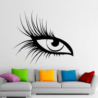 DCTOP Beautiful Eyes Wall Stickers Vinyl Art Eyelashes Makeup Adhesive Sticker Wall Decals Home Decor Bedroom