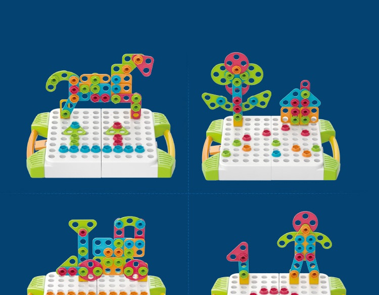 botão arte 2in1 kit haste brinquedo broca menino dom educacional
