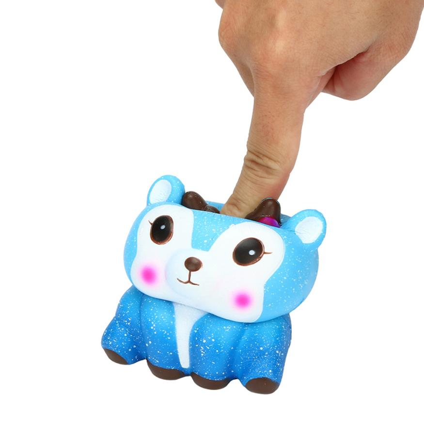 Logical Squishy Toys Cartoon Starry Sky Deer Squishy Slow Rising Cream Scented Toys Kids Kawaii Squish Anti Stress Toys Stress Reliever Novelty & Gag Toys