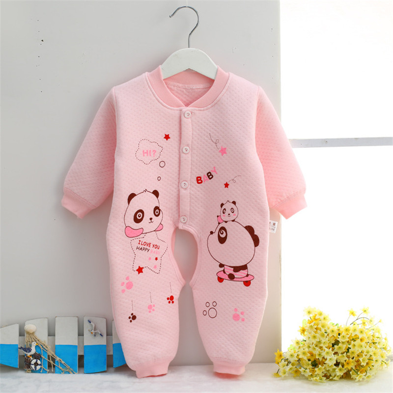 0-9 month Cotton Baby Rompers Wear Jumpsuits Kids panda baby boy clothes newborn infant baby girl costumes clothing SKA04 (3)