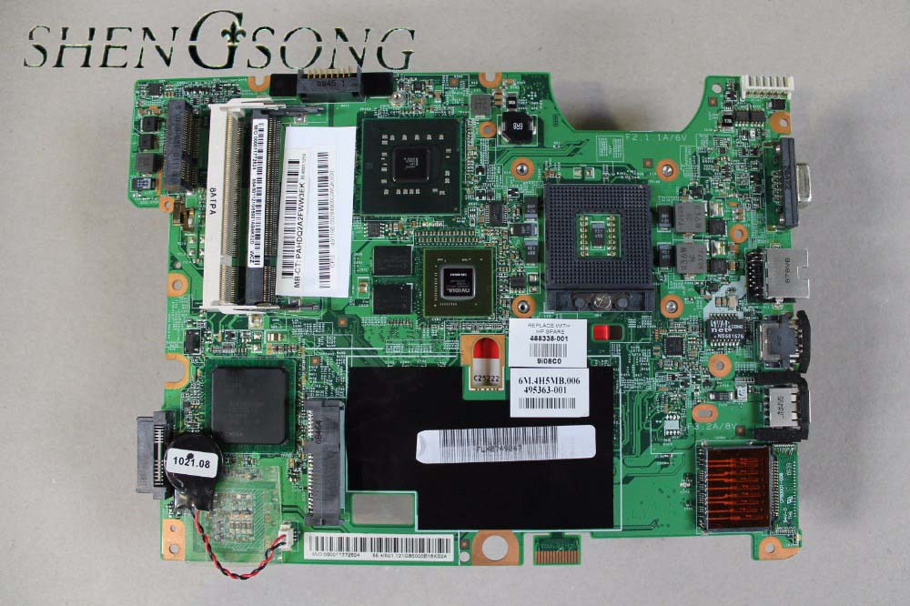 48.4I501.021 488338-001 Free Shipping FOR hp Compaq CQ60 G60 CQ70 G70 laptop motherboard PM45 DDR2 GeForce 9200M 578232 001 laptop motherboard cq60 g60 sales promotion full tested