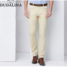 Dudalina High Quality Cotton Men Pants Straight Spring and Summer Long Male Classic Business Casual Trousers