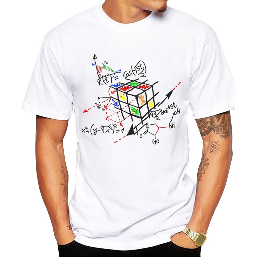 2018 neue Mode Mathematik Arbeit Design Männer T-shirt Kurzarm Hipster Tops Math cube Gedruckt t shirts Cool t