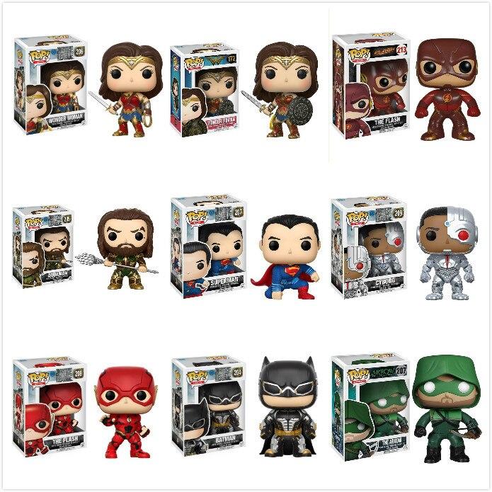 Funko Pop Wonder Woman Superman Batman Collection Model Boy Toys Movie Figure 2019 Anime Kids Toys For Children Gift
