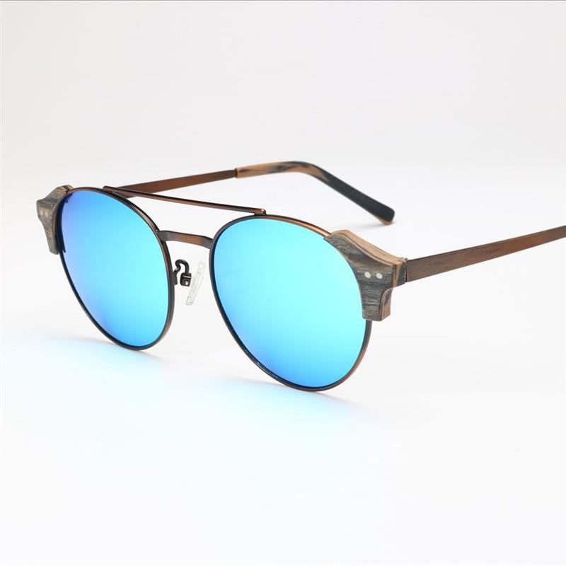 Viewnice Retro Fashion Man gafas aus holz De sol lunette de soleil - Bekleidungszubehör - Foto 4
