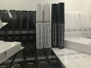 Free Shipping Hot Sale Beauty Clear Eyelash Coating Mascara Made in Korea Prolong Use of Time 9 bottles/lot