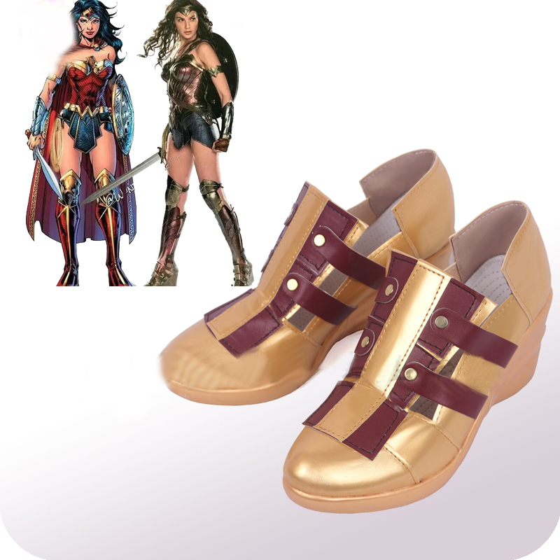 Wonder Woman Cosplay Shoes Boots Halloween Carnival Cosplay Costume Accessories New Version