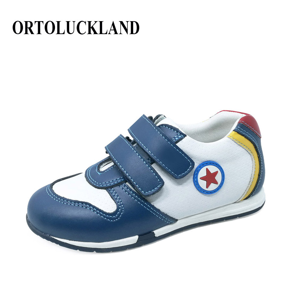 Anti-slippery and solid orthopedic sport shoes for boys sneaker kids genuine leather casual shoes child running shoes quelle quelle 964319
