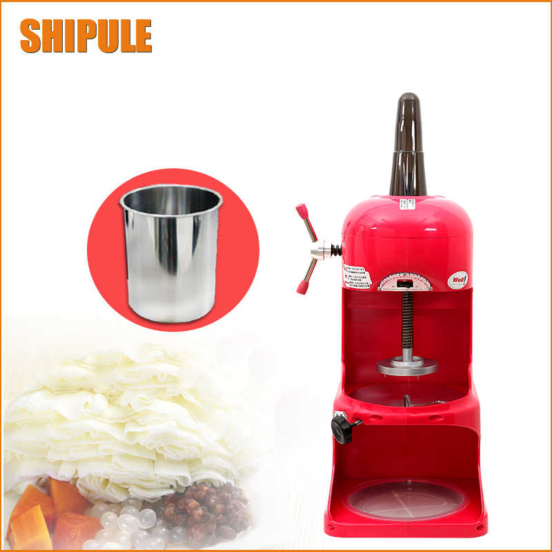 220V Shop dedicated Ice Crusher Automatic Industrial Ice Shaver Machine Ice Slush Maker For Hotel Restaurant Bar Coffee Shop edtid 12kgs 24h portable automatic ice maker household bullet round ice make machine for family bar coffee shop eu us uk plug