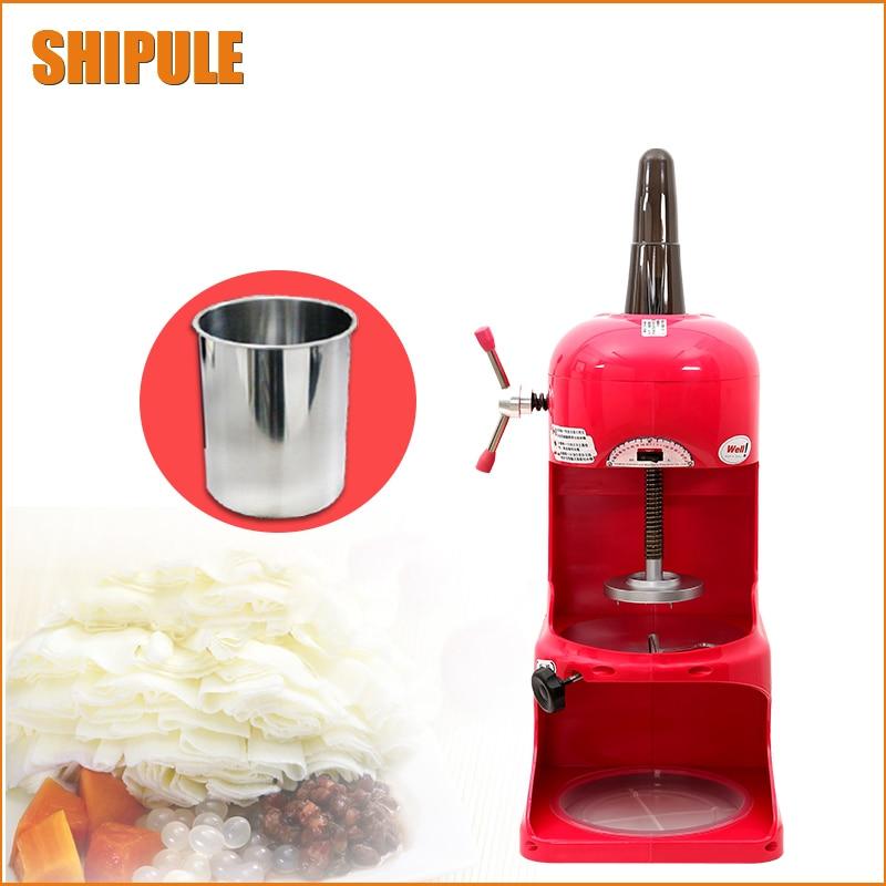220V Shop dedicated Ice Crusher Automatic Industrial Ice Shaver Machine Ice Slush Maker For Hotel Restaurant Bar Coffee Shop