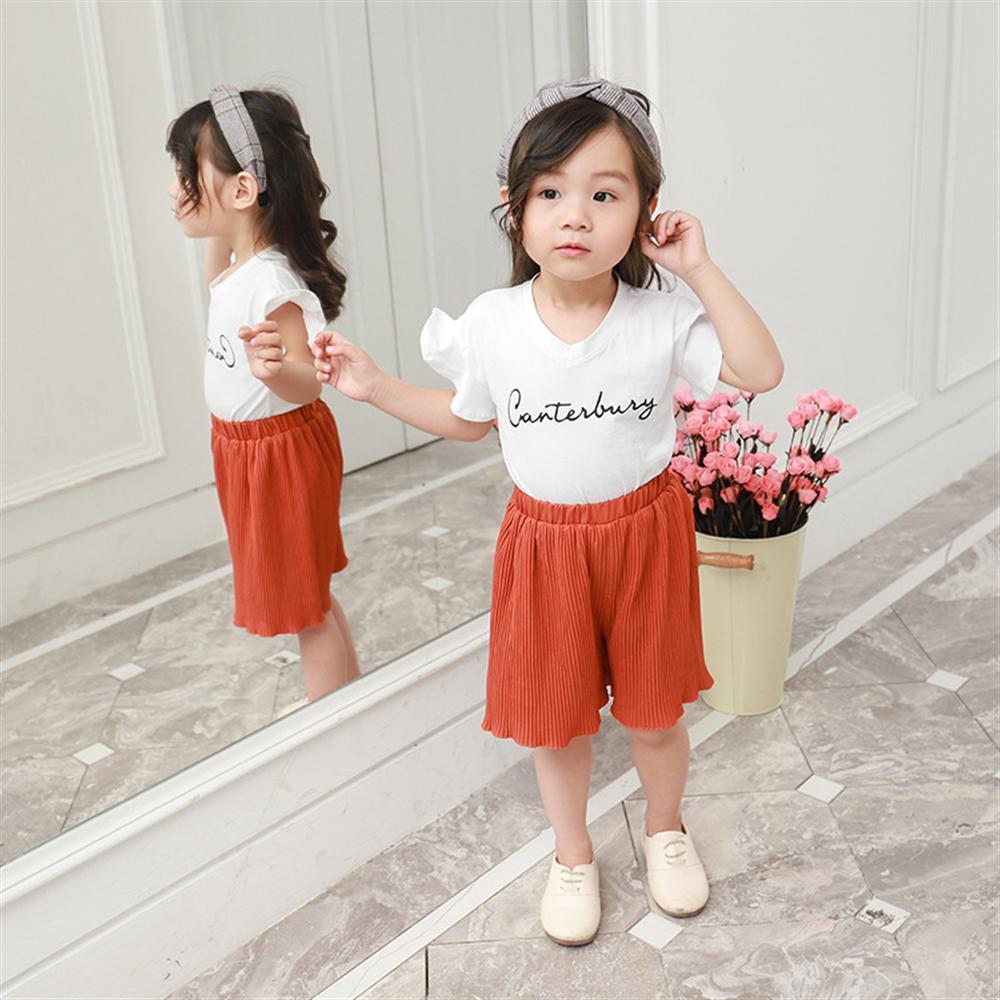 Zomer meisjes kleding sets nieuwe mode katoenen witte t-shirts + - Kinderkleding - Foto 2