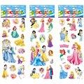 6 листов/комплект тапочек в полоску с рисунком из мультфильма «холодное белое платье принцессы наклейки Скрапбукинг для детских комнат Дне...