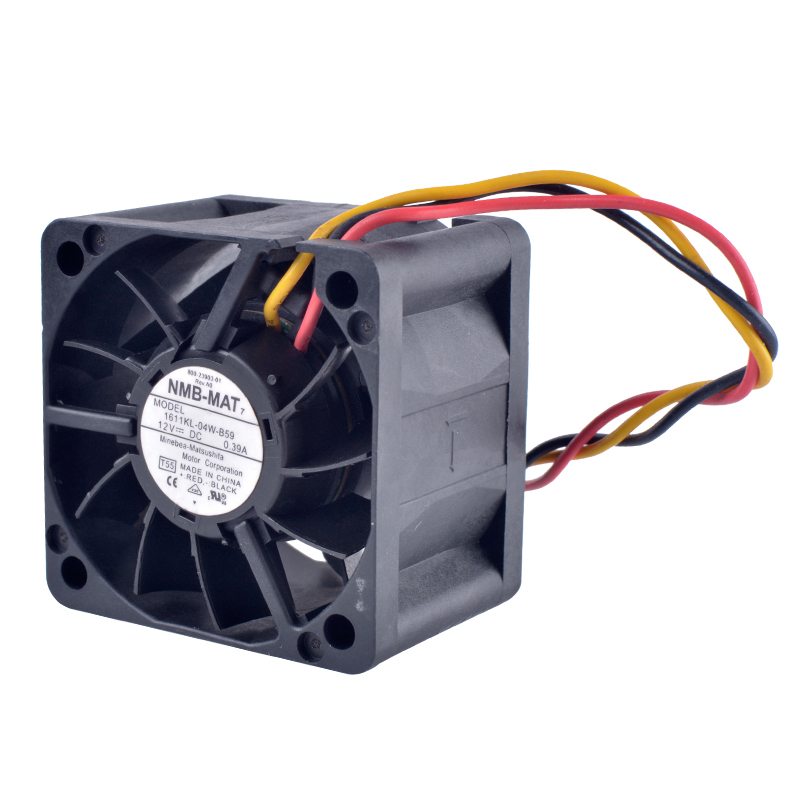 COOLING REVOLUTION 1611KL-04W-B59 4cm 40mm fan 4028 12V 0.39A Double ball bearing air volume server cooling fan new dual ball bearing cooling fan ffb0912hhe f00 9cm 9038 12v 0 53a 3line delta