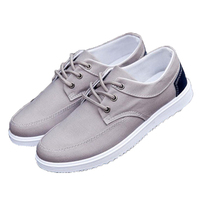Hot Korean Mens Canvas Shoes Boy Students Outdoor S Low Flats Leisure Males Casual Shoess