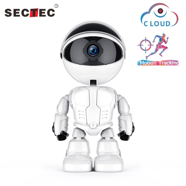 Sectec 1080P Cloud IP Camera Robot Intelligent Auto Tracking Camera Wi-fi Robot Camera Home Security Wireless CCTV Camer