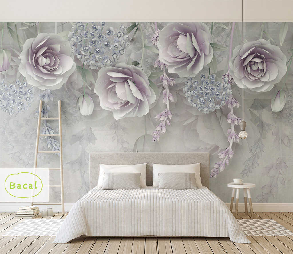 Custom 3d Wall Murals Wallpaper For Bedroom Walls Retro Hand Painted Floral Wall Painting Home 5d Mural Wallpaper Flower Decor Wallpapers Aliexpress