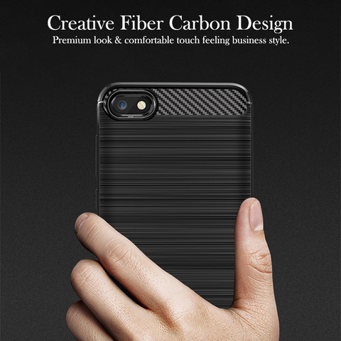 """For Honor 7A  5.45""""Case Carbon fiber Cover Full Protection Phone Case For Huawei Y5 2018 Honor 7 A DUA-L22 Cover Flex Bumper Islamabad"""