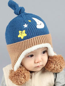 MUQGEW Cute Baby Toddler Kids Stars Fur Knitted Hat Cap 98cdc7513a91