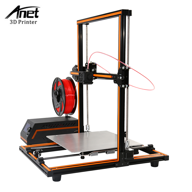 Anet E12 3D Printer DIY Kit Partially Assembled Aluminum Frame Large Building Size Volume 300*300*400mm 3d Printer with TF Card big sale laptop creality 3d printer cr 10 fully assembled plus printing size 300 300 400mm 3d printer diy kit with sd card