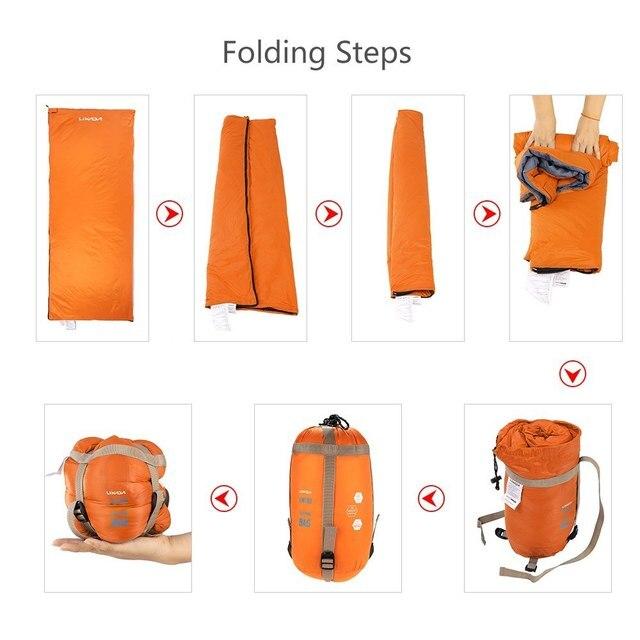 Lixada 190 * 75cm Outdoor Camping Bag Hiking Sleeping Bag Multifunctional Ultra-light Envelope Hooded Sleeping Bed Lazy Bag 5