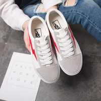 Flat Skate Shoes Korean Allmatch Embroidery Bee White Shoe Female Sports Shoes Lace Up Shoes