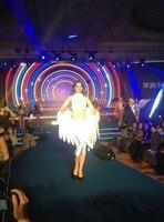 Свадебной фотографии/других праздничных вечеринок/модель мода шоу на сцене 100% высокого качества большие размеры Перо Крыла Ангела