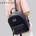 Leftside 2016 nova moda back pack pacotes de saco de couro das mulheres pu feminino clássico legal sacos mochilas mochila para meninas adolescentes