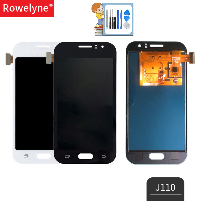 <font><b>LCD</b></font> For <font><b>Samsung</b></font> Galaxy <font><b>J1</b></font> <font><b>Ace</b></font> J110 SM-J110F J110H <font><b>LCD</b></font> Display Touch Screen Digitizer Assembly Replacement Can Adjust Brightness image