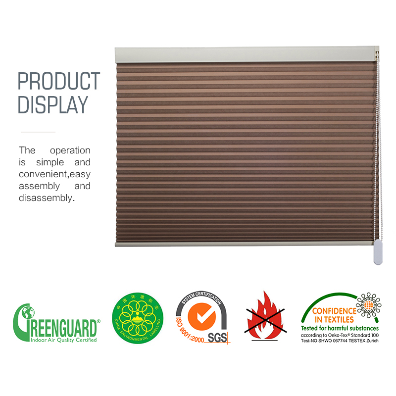 Khaki full shading noise reduction insulated honeycomb roller blinds window blinds in Blinds Shades Shutters from Home Garden