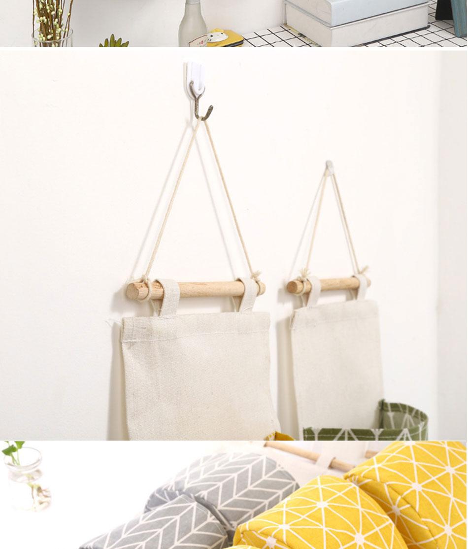 Cute Wall Sundry Cotton Line Hanging Organizer Bag Multi-layer Holder Makeup Rack Jewelry Storage Box Basket Home Decoration (8)