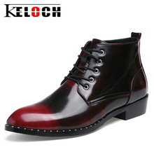 Keloch Genuine Leather Ankle Boots Men Breathable Business Shoes Fashion Men'S High Quality Boots Bota Masculina