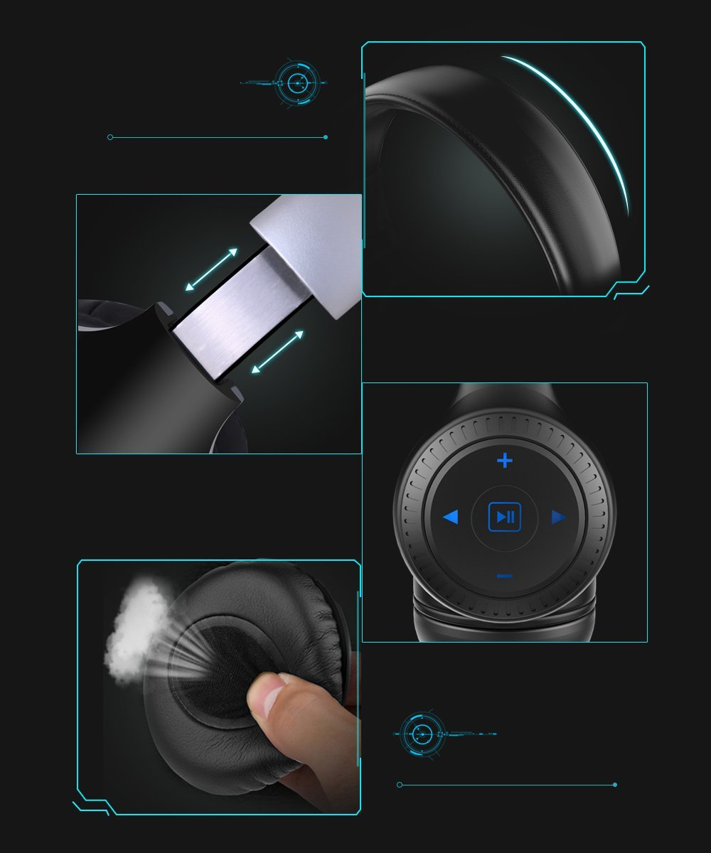 Zealot B20 Wireless Bluetooth Headphone Portable-4