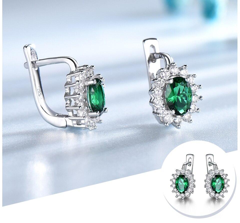 HTB1E43wbdzvK1RkSnfoq6zMwVXaN UMCHO 925 Sterling Silver Earrings Gemstone Created Emerald Clip Earrings For Female Birthday Anniversary Gifts Fine Jewelry