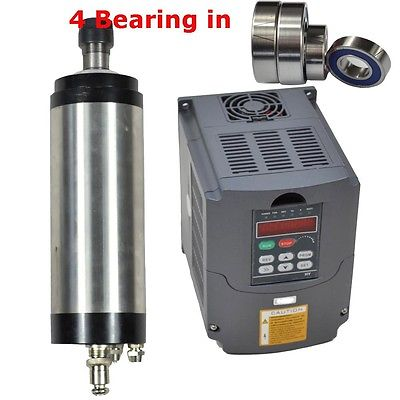 CNC spindle ER20 3kw water cooled Spindle Motor Germany bearing & matching 3kw frequency inverter motor speed controller vfd cs water cooled 3kw spindle motor sets matching 3kw inverter 1set er20 100mm mount bracket pump