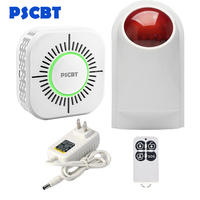 PSCBT Smoke Detector Spot Alarm Siren Fire Protection System Smog Detector Sensor for Wireless GSM SMS WIFI Smoke Detector