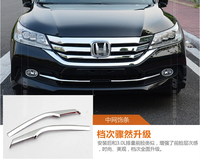 For Honda Accord 2013 2014 2pcs Chrome Front Bottom Grill Cover Trims Racing Grills