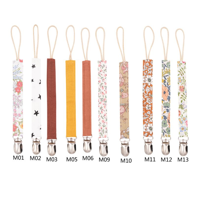 Baby Pacifier Clip Chain Cotton Linen Holder Pacifier Soother Clips Leash Belt Nipple Holder For Infant Feeding Baby Accessories
