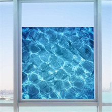 AU Film Water Ripple Window Decal Privacy Glass Cover Home Shower Door Bathroom beautiful wall sticker let you feel in the sea