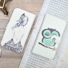"""Cute Cartoon Cover For Asus Zenfone Go ZenFoneGo ZC451TG 4.5"""" Filp Wallet Cover For Asus ZC451TG Luxury Case Phone Bags&Cases"""
