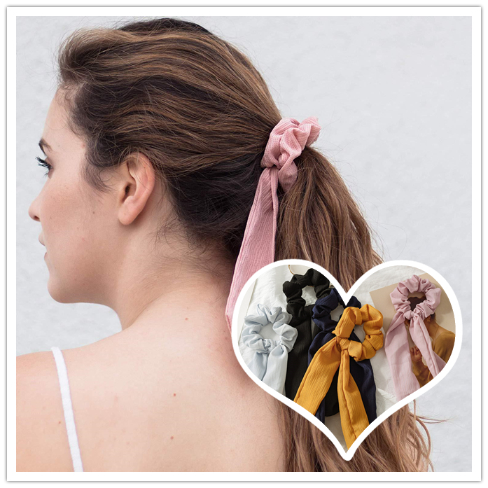 Nueva moda 2019 verano dulce Scrunchie mujeres cinta elástica banda para el cabello lazo bufanda pelo goma cuerdas para el cabello niñas accesorios para el cabello