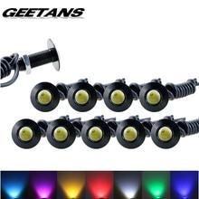 GEETANS 1pcs Ultra thin 2.3CM 12V Car led DRL Daytime Running light source waterproof Eagle eye lamp /Parking Warning Light  AE