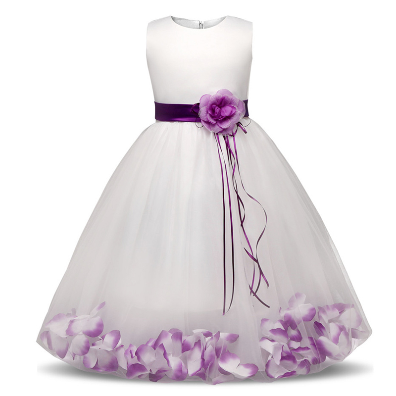 New Floral Kids Party Dresses for Wedding Princess Dress Girl Children Clothing Summer Clothes Kids's Party Costume with Flowers