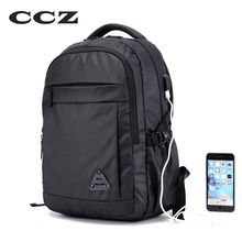 CCZ 2017 Nueva Moda Mochila Bolso de Hombros de Nylon Hombres de Bolso de Escuela Del Bolso Para Viajar 14 pulgadas Laptop Backpack Mochila BK8018