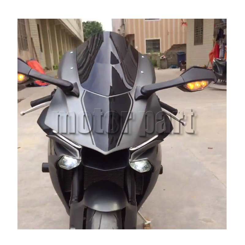 Image 2 - Motorcycle WindScreen Windshield Wind Screen For 2015 2016 2017 2018 16 17 Yamaha YZF 1000 R1 R1M R1S YZF R1 YZF R1M Black Smoke-in Windscreens & Wind Deflectors from Automobiles & Motorcycles