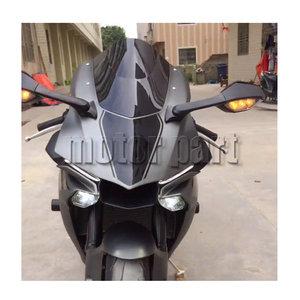 Image 2 - Motorcycle WindScreen Windshield Wind Screen For 2015 2016 2017 2018 16 17 Yamaha YZF 1000 R1 R1M R1S YZF R1 YZF R1M Black Smoke