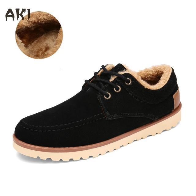 2016 Otoño Invierno Zapatos de Los Hombres Planos de Los Hombres de Lona Del Cordón de Zapatos de la Felpa Zapatos Casuales Bootssingle Pisos Hombres Moda Estilo Cálido