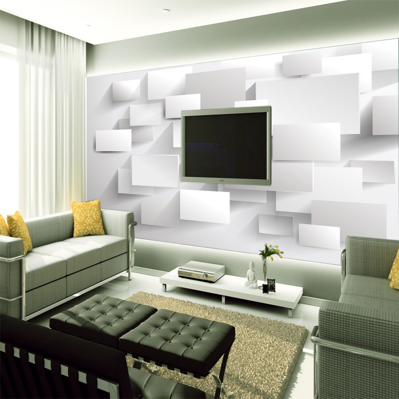 beibehang Embossed Cubic Abstract Photo Wallpapers 3D Wallpapers Large Wall Murals for Custom White Brick Wall Background beibehang large custom wallpapers fresco