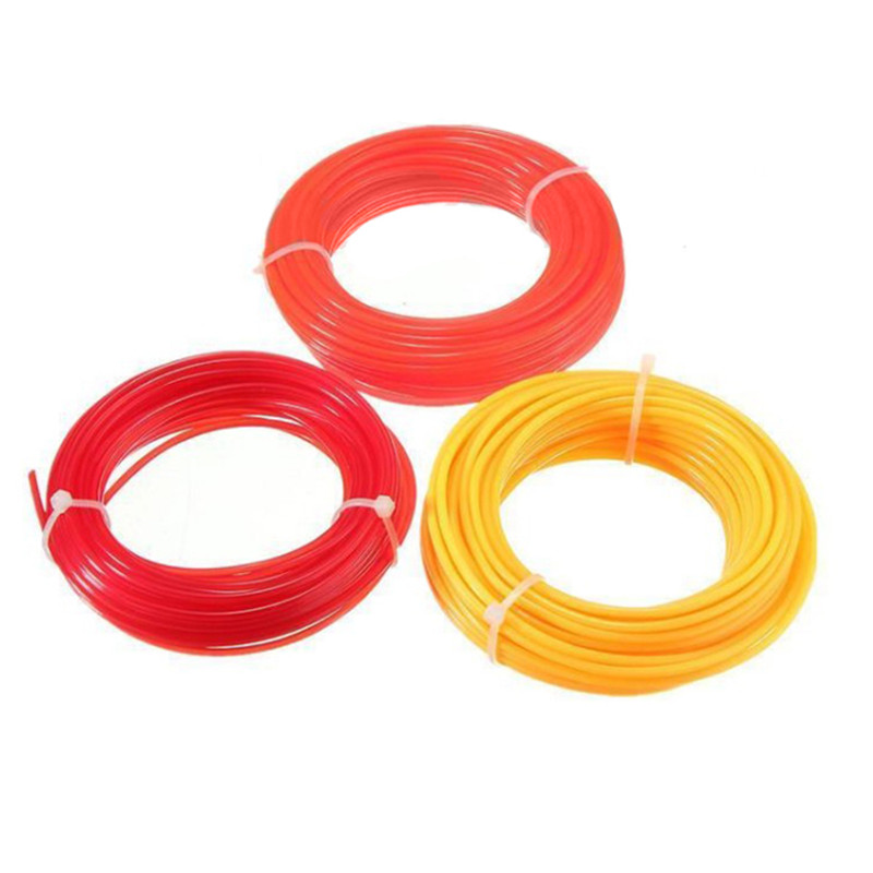 Practical 15m Strimmer Line Nylon Cord Wire String Grass Trimmer Line For Grass Cutter Garden Tool Part grass trimmer line 3 0mm diameter 500g round for brush cutter power nylon line grass cutting